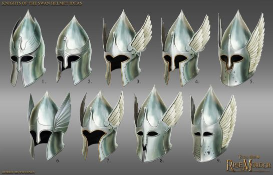Knights of the Swan helmet ideas by RobbieMcSweeney