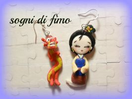 Mulan e Mushu Disney FIMO by SogniDiFimoCReazioni