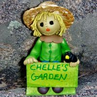 Cute personalized scarecrow polymer clay sculpture by CreativeCritters