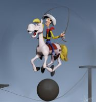 Lucky Luke - Western Circus (3D Comic Cover) WIP by FoxHound1984
