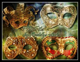 Venetian Masks_PSD Files by flordelys-stock