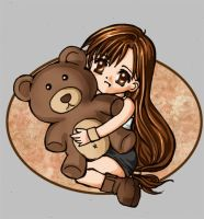 Tifa and a Teddy by KeeLe