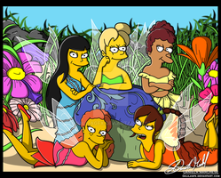 Simpson Fairies by DalilaGFX