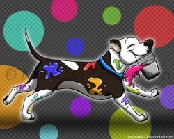 The Painting Pit Bull by Coloran