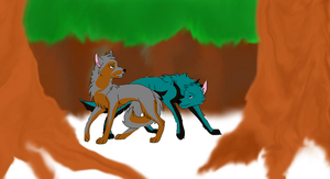 lost in the woods by wolvesanddogs23