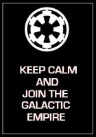 Star Wars - Galactic Empire 'Keep Calm' Poster by DoctorWhoOne