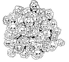 Cluster Skull by after-the-funeral