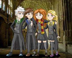 The Big Four at Hogwarts by eas123