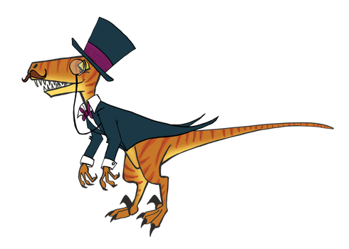 Velociraptor Character by Loqueseaaa
