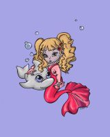 Mermaid Toddler colored blue by minathene