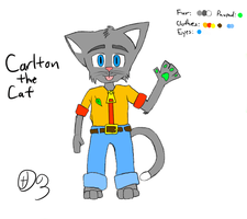 Carlton the Cat by Dragonuv3