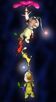 Captain Olimar and Louie by Psykotika13