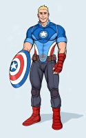 Captain America Redesign 2 by kiddoblivion