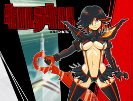 Digi Illustration - Ryuko Matoi. by Indivicolours