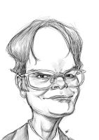 Dwight Schrute Caricature by burnt8bit