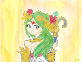 OHS- Cosmo as Palutena by WhiteXRose96