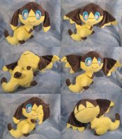 Helioptile plush angles by aSourLemon