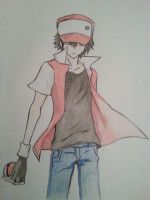 Pokemon trainer Red (REQUEST) by Exerxes