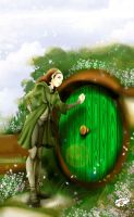 Hobbit's door by Axcido