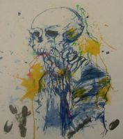 grunge skull LOW QUALITY by boringcabbage