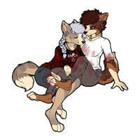 Art Trade: Ollie and Devon by SocialButter
