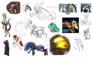 Sketches by DiscordTheTrollest