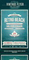 Retro Summer Beach Flyer/Poster by frankschrijvers