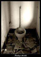 Reading on the toilet by grafzahl