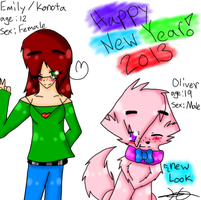 Happy New Year 2013!~ by Ask-Ookami-2pEngland
