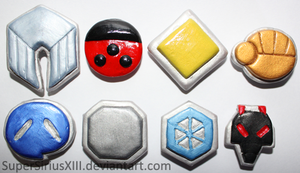Johto League badges by SuperSiriusXIII