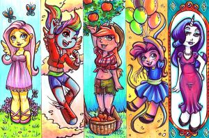 My Little Pony Bookmarks by Caden13