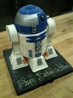 3D R2-D2 Cake view 1 by Spudnuts