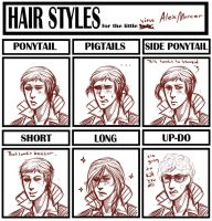 Hairstyle meme: Alex Mercer by TheLizAngel