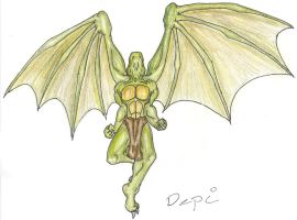 Flying reptilian - colored by All-Crazy-Reptiles