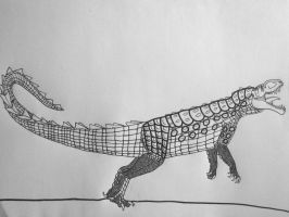 Neopostosuchus- the giant panser-croc by Saberrex