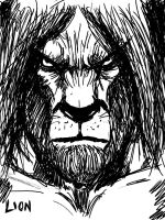 The Cowardly Lion by madclownjack