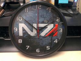 Mass Effect N7 Clock v2 by ChrisInVT