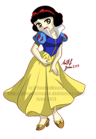 Chibi Snow White by MissPhiMouse