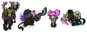 Warcraft Chibis Set6 by feedapollyon