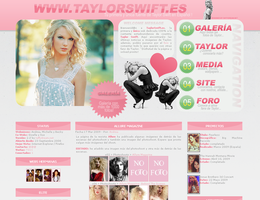 taylorswift.es layout by LoveScream