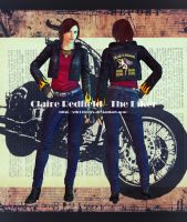 Fan Model - Claire Redfield The Biker by xTh13teeNx