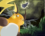 Raichu Before the Thunderstorm! by WeisseEdelweiss