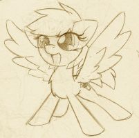 Sketch: Random Pony by DeadlyComics