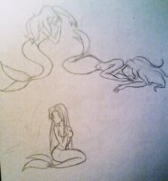 Mermaids sketches by giulal