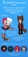 Commission Info + Prices 2014 (Paypal and Points) by Mouseleaf