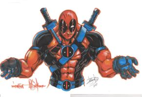 Deadpool Commission by DamageArts