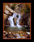 sliding Rock Waterfall Autumn by houstonryan