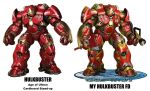Marvels and MineIronManHulkbusterFD by gloade