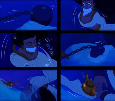 Aladdin genderbend - Drowning scene - Page 6 - end by Miranh