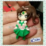 Sailor Jupiter Handmade Pendant Polymer Clay by DarkettinaMarienne